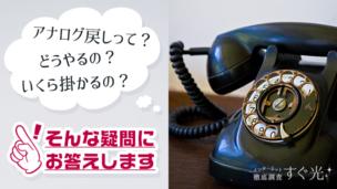 アナログ戻しの方法と解説!乗り換え時に電話番号を引き継ごう